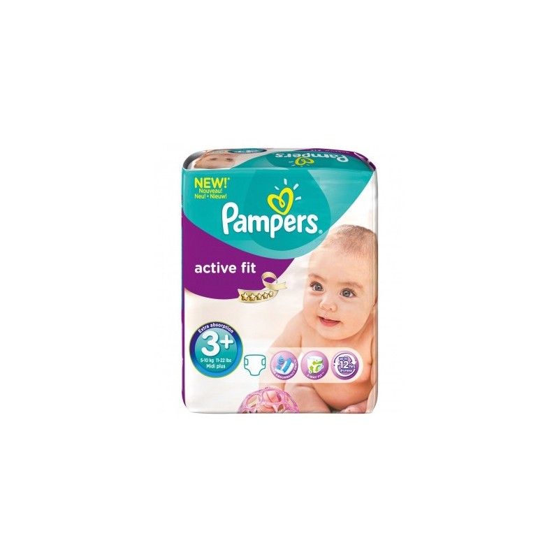 Achat 80 couches pampers active fit taille 3 petit prix sur sos couches - Couches pampers naissance ...