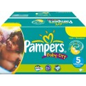 164 Couches Pampers Baby Dry taille 5 sur Sos Couches