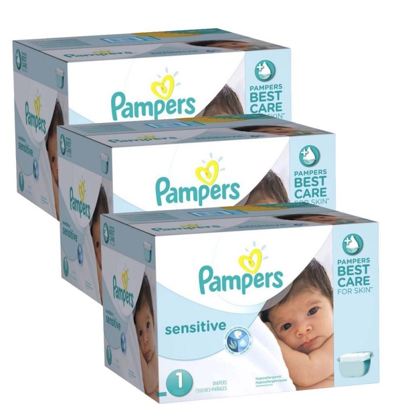 Achat 504 Couches Pampers New Baby Sensitive Taille 1 à Bas Prix Sur