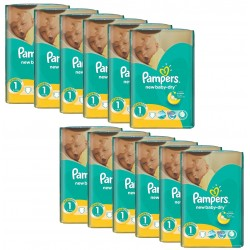 860 Couches Pampers New Baby Dry taille 1