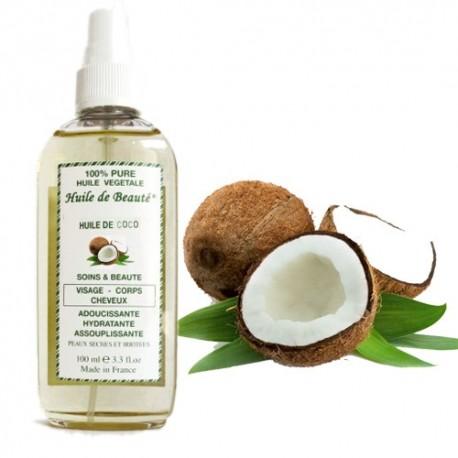 Huile de beauté au coco 100% pure et végétale sur Sos Couches