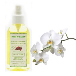 Huile de beauté à l'extrait d'orchidée 100% pur et végétal