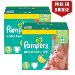410 Couches Pampers Active Baby Dry taille 3