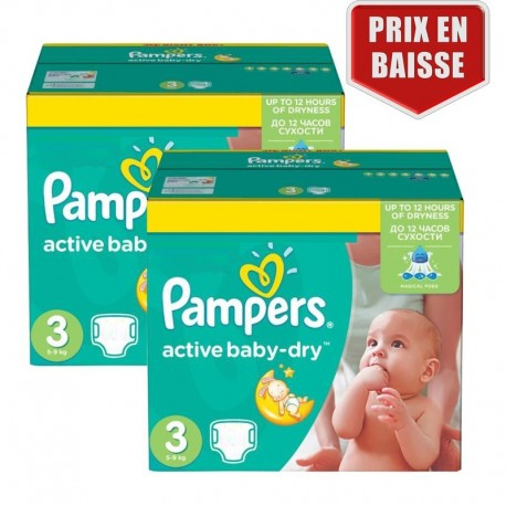 Achat 410 couches pampers active baby dry taille 3 en solde sur sos couches - Couche pampers baby dry taille 3 ...