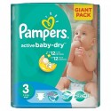 82 Couches Pampers Active Baby Dry taille 3 sur Sos Couches