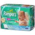 63 Lingettes Bébés Pampers Fresh Clean - Made in Japan sur Sos Couches
