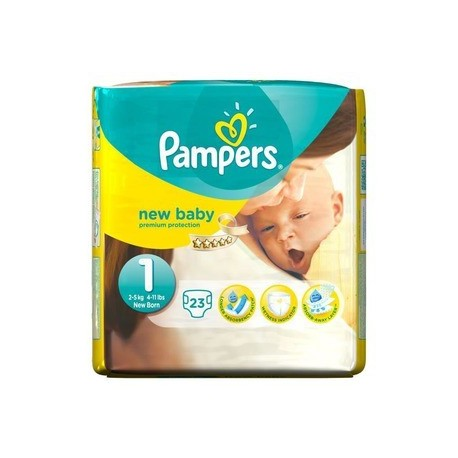 23 Couches Pampers New Baby taille 1 sur Sos Couches