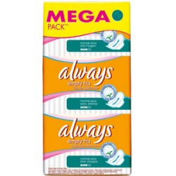 18 Serviettes hygiéniques Always Ultra Simply Fits taille Normal