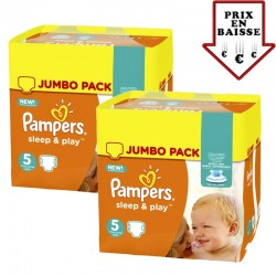 348 Couches Pampers Sleep & Play taille 6
