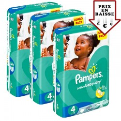 588 Couches Pampers Active Baby Dry taille 4