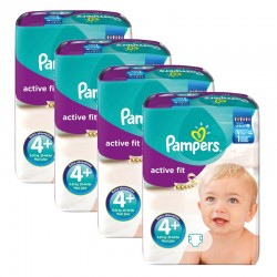 282 Couches Pampers Active Fit taille 4+