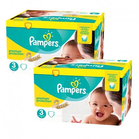 400 Couches Pampers Premium Protection - New Baby taille 3 sur Sos Couches