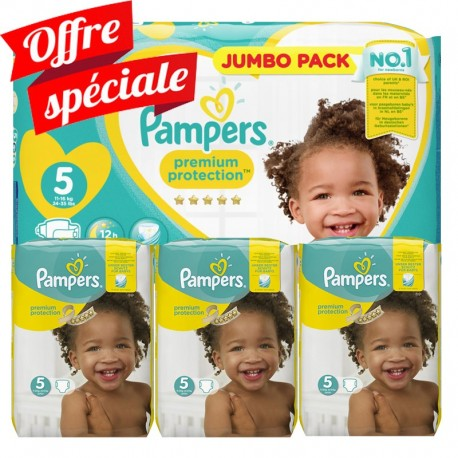 340 Couches Pampers Premium Protection - New Baby taille 5 sur Sos Couches