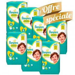 155 Couches Pampers Premium Protection - New Baby taille 6
