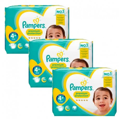186 Couches Pampers Premium Protection - New Baby taille 4+ sur Sos Couches