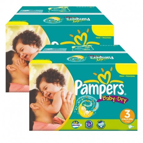 408 Couches Pampers Baby Dry taille 3 sur Sos Couches