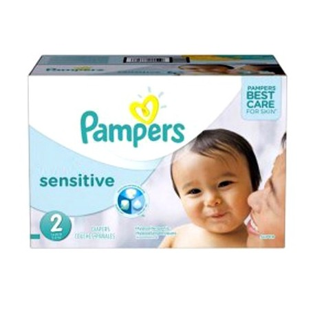 360 Couches Pampers New Baby Sensitive taille 2 sur Sos Couches