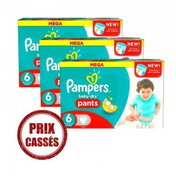 192 Couches Pampers Baby Dry Pants taille 6
