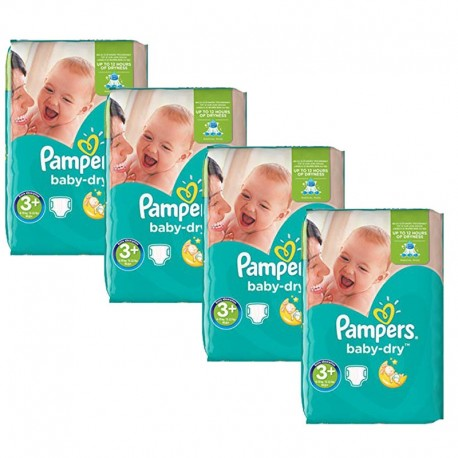 188 Couches Pampers Baby Dry taille 3+ sur Sos Couches