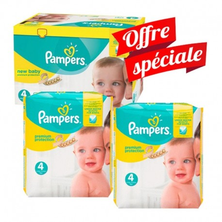 312 Couches Pampers New Baby - Premium Protection taille 4 sur Sos Couches