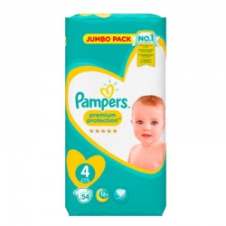 54 Couches Pampers New Baby - Premium Protection taille 4