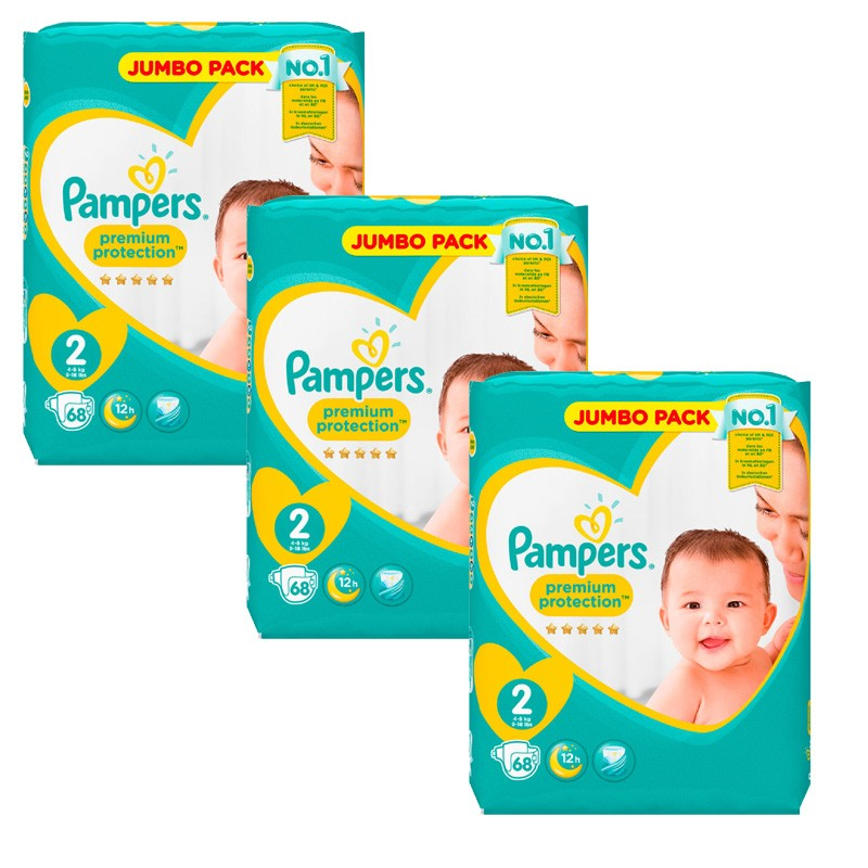 Achat 204 couches pampers new baby taille 2 en promotion sur sos couches - Couche pampers new baby taille 2 ...