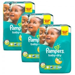 168 Couches Pampers Baby Dry taille 5+