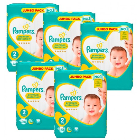 340 Couches Pampers New Baby - Premium Protection taille 2 sur Sos Couches