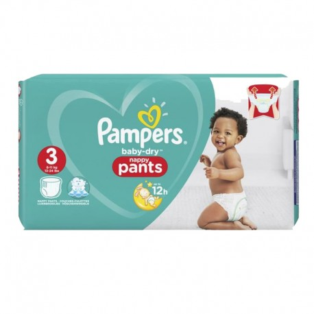 80 Couches Pampers Baby Dry Pants taille 3 sur Sos Couches