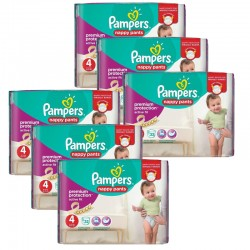 224 Couches Pampers Active Fit - Pants taille 4