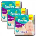 141 Couches Pampers Active Fit taille 5 sur Sos Couches