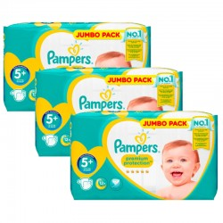 135 Couches Pampers New Baby - Premium Protection taille 5+