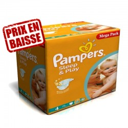 216 Couches Pampers Sleep & Play taille 4