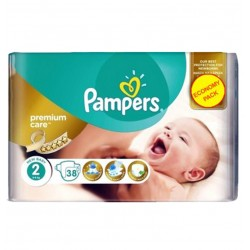 38 Couches Pampers New Baby - Premium Care taille 2