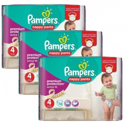 128 Couches Pampers Active Fit - Pants taille 4