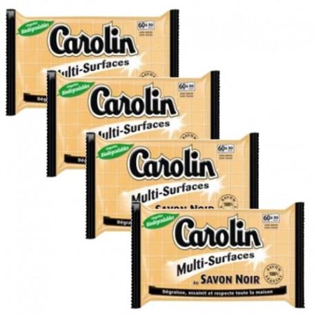 Carolin Serpillières 4X15 au Savon Noir Multi-surfaces sur Sos Couches