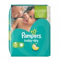 90 Couches Pampers Baby Dry taille 5 sur Sos Couches