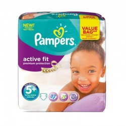 32 Couches Pampers Active Fit - Premiun Protection taille 5+