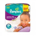 32 Couches Pampers Active Fit - Premiun Protection taille 5+ sur Sos Couches