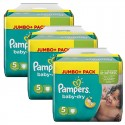 144 Couches Pampers Baby Dry taille 5 sur Sos Couches