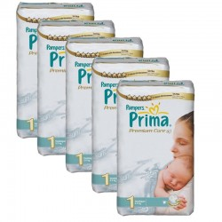 154 Couches Pampers Premium Care - Prima taille 1