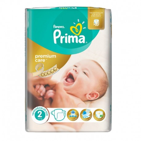 22 Couches Pampers Premium Care - Prima taille 2 sur Sos Couches