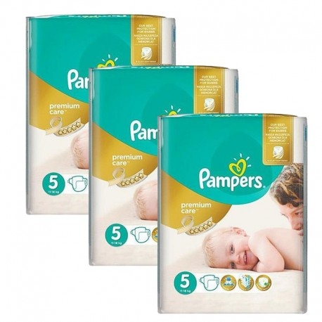 208 Couches Pampers Premium Care - Prima taille 5 sur Sos Couches