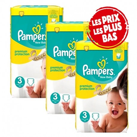 200 Couches Pampers New Baby - Premium Protection taille 3 sur Sos Couches