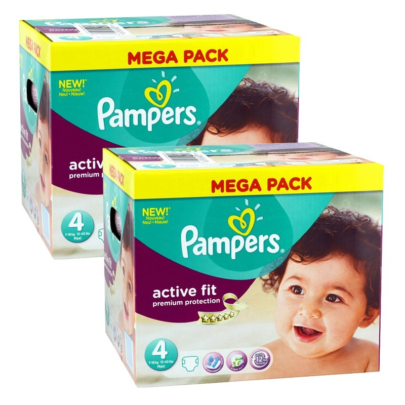 Achat 840 Couches Pampers Active Fit Taille 4 A Petit Prix Sur Sos