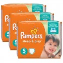116 Couches Pampers Sleep & Play taille 5 sur Sos Couches