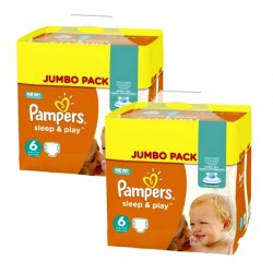 210 Couches Pampers Sleep & Play taille 6