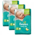 126 Couches Pampers Baby Dry taille 2 sur Sos Couches