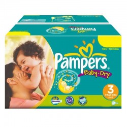 374 Couches Pampers Baby Dry taille 3