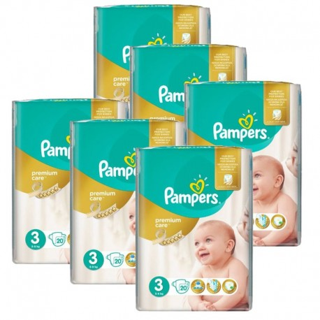 480 Couches Pampers Premium Care - Prima taille 3 sur Sos Couches